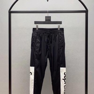 Supreme 休闲裤20拼色拼接校裤 束腿休闲裤 运动裤 宽松阔腿男士长裤-23