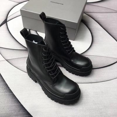 Balenciaga\巴黎世家2028秋冬新款马丁靴 女士短靴厚底机车女靴子