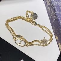 Dior迪奥水晶金属CD二和一手链热卖款