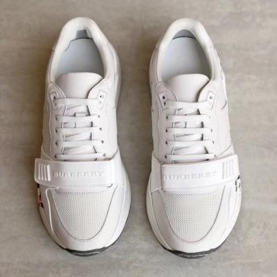 Burberry/巴宝莉男鞋 House 格纹休闲运动鞋独特品牌印花小白鞋