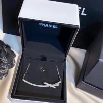 Chanel香奈儿蝴蝶结镶嵌满钻项链 小众贵气