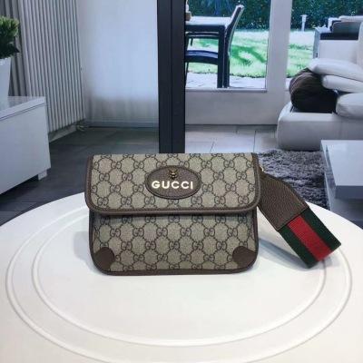 Gucci/古驰 Ophidia系列爆款时尚腰包 可斜挎 单肩 搭配虎头标志凸显时尚感与霸气 SYBY