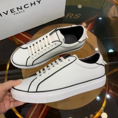 Givenchy\纪梵希2020春秋新款人气小白鞋 黑色线条勾勒鞋身 休闲运动鞋