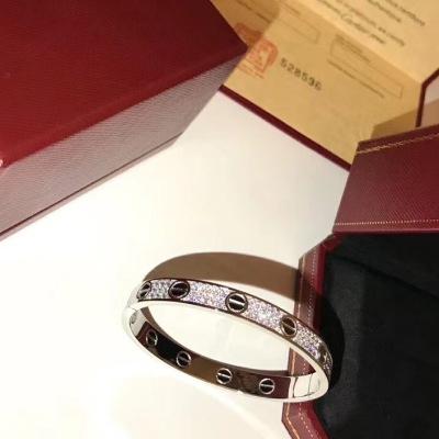 Cartier卡地亚满天星白金色手镯  经典款式
