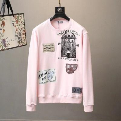 Dior迪奥卫衣  春秋情侣款棉质长袖圆领套头t恤-13