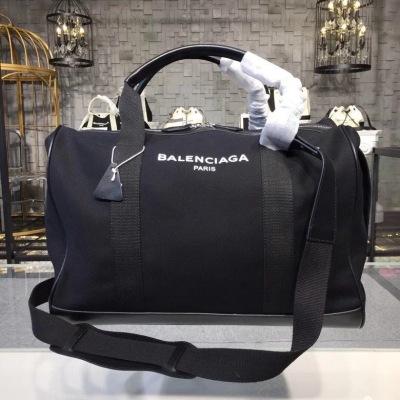 Balenciaga巴黎世家帆布旅行袋  帆布配牛皮 大容量包身 配调节肩带 手提/单肩/斜挎 BLSJ-2H