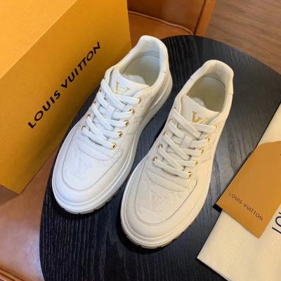 Louis Vuitton\LV最新款男士休闲鞋 大底设计品牌印花皮鞋