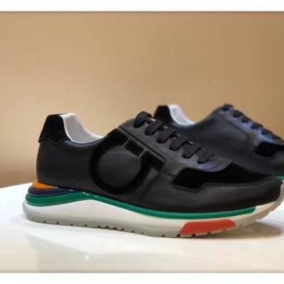 Ferragamo\菲拉格慕男鞋 小白鞋运动休闲鞋 厚底拼色老爹鞋