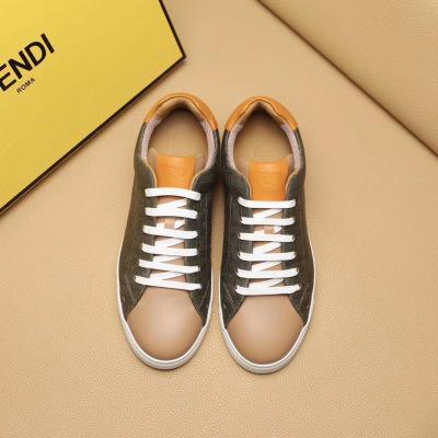 Fendi\芬迪2020新款男士休闲系带小白鞋 拼色平底运动鞋