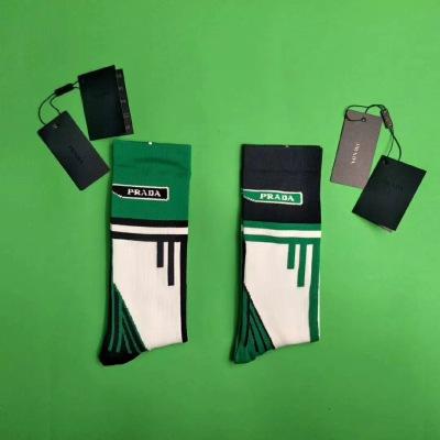PRADA  机能中筒袜  两色可选  男码均码socks082104