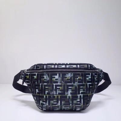 FENDI/芬迪拉链开合腰包可调节腰带。尼龙材质 拼色迷彩 FF 印花图案 时尚达人首选FD-MD3