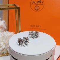 Hermes爱马仕猪鼻子新款优雅气质宽面开口均码戒指