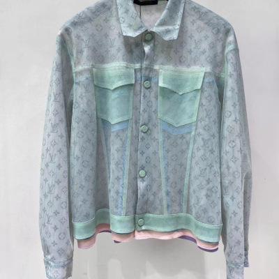 路易威登LV 外套 20年新款男女果冻上衣 多色绢纱宽松版夹克-8