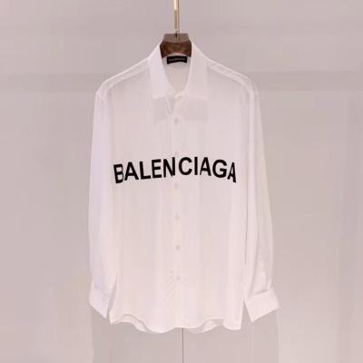 Balenciaga/巴黎世家衬衫 男女新品字母logo长袖衬衣-7