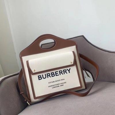 BURBERRY巴宝莉帆布包系列 偷走了不少人的少女心自带清新脱俗的气质  略带文艺感而不矫情的味道 男女中性可搭配  手拎侧背都很酷 BBL-YS