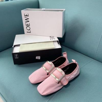 Loewe/罗意威2020新款糖果系列芭蕾舞鞋女方头平底单鞋