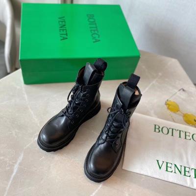 Bottega Veneta\BV宝缇嘉2020秋冬系带马丁靴 网红明星同款 时尚百搭