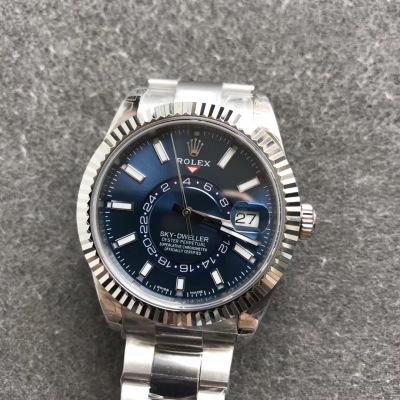 POLEX劳力士天行者手表 表壳尺寸42mm抗刮损蓝宝石水晶 防反光凸透式放大日历窗 沉重可靠 雍容大度