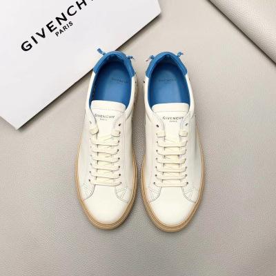 Givenchy\纪梵希新款印花logo独特后跟小白鞋男士系带休闲运动鞋