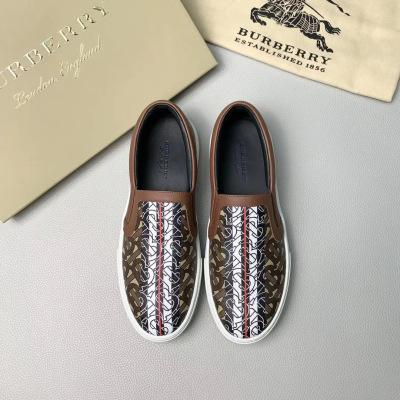 Burberry\巴宝莉新款男士休闲一脚蹬老人鞋