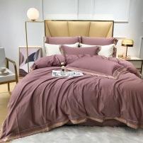 100支匹马棉高端刺绣四件套 恬静的、清润的、灵动的、时尚的ldjj090709