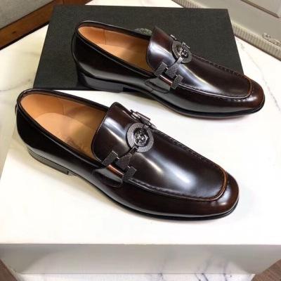 Versace\范思哲新款男士商务休闲鞋 金属扣皮鞋