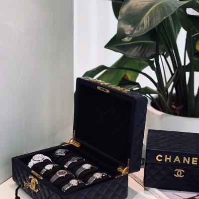 小香手表收纳盒  高端定制 专柜原版线刺绣  可放8块手表 mtjp082009