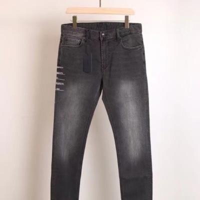 Prada/普拉达牛仔裤 秋冬男士贴身透气弹力长腿黑灰裤子-2