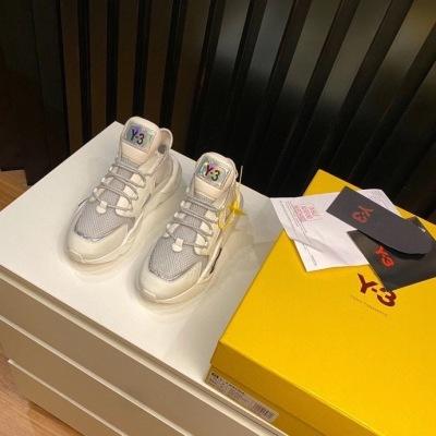 Y-3 最新款男士老爹鞋 镭射品牌徽标 大底系带休闲运动鞋