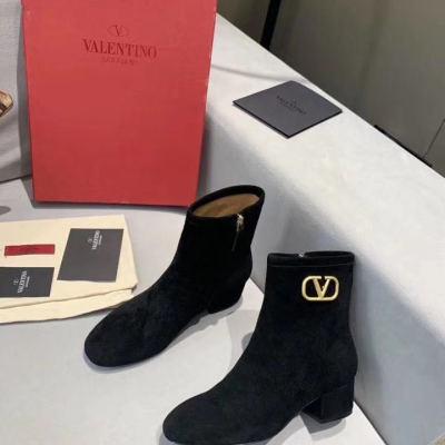 Valentino\华伦天奴2020新款秋冬短靴 品牌logo女士中筒靴子