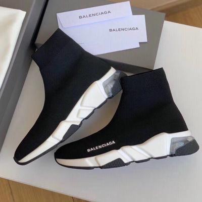 Balenciaga/巴黎世家新款弹力字母鞋男女运动袜子鞋