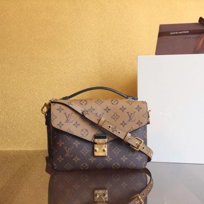 Louis Vuitton/路易威登 LV拼色邮差包 女包单肩斜挎 LV-MX