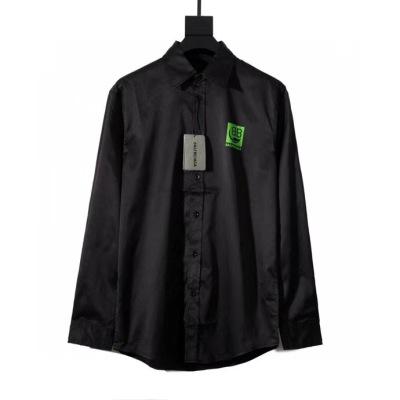 balenciaga 巴黎世家衬衫 喷印双b后背大logo长袖男款外套衬衫-2