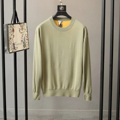 Loewe罗意威针织衫  秋冬男士拼色羊毛长袖圆领毛衣-13