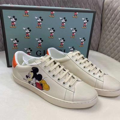 Gucci\古驰小白鞋复古米奇脏脏鞋板鞋情侣男女运动鞋
