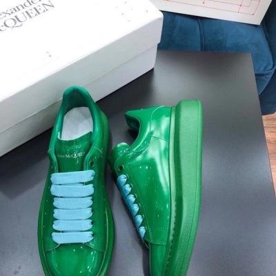 Mcq\麦昆经典漆面松糕鞋 男女休闲情侣运动鞋 经典厚底小白鞋板鞋