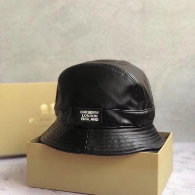 巴宝莉Burberry  新款牛皮渔夫帽 遮阳防晒帽 帽型赞mzyj082004