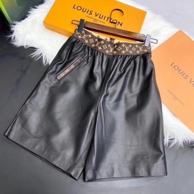 LV路易威登皮短裤   秋冬女款羊皮五分显瘦-13
