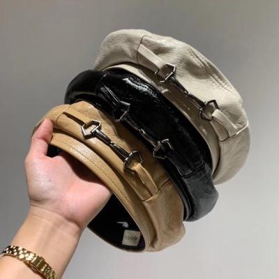 Gucci古驰 新款贝雷帽、漆皮贝蕾帽,高档大气百搭,一年四季随心搭配,三色头围56cydmz081501m