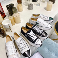 Chabel\香奈儿最新款女士纯皮单鞋 鞋头AB小香标 系带厚底休闲运动鞋