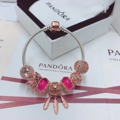 PANDORA潘多拉玫瑰金系列手链 设计灵动好看超级显白
