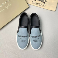 Burberry\巴宝莉纯色字母休闲男鞋 一脚蹬乐福鞋