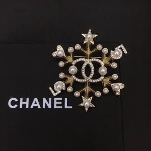 Chanel香奈儿 女士雪花闪钻珍珠胸针