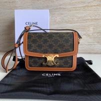Celine/赛琳女士老花牛皮小方包盒子包单肩斜挎包 SL-JXG