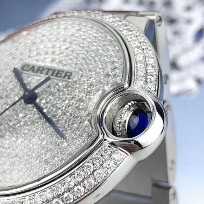 Cartier卡地亚蓝气球系列精钢自动机械中性表      表径:36.6mm